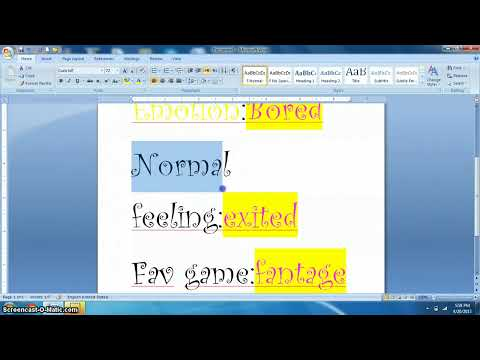 microsft word pad (kids only)