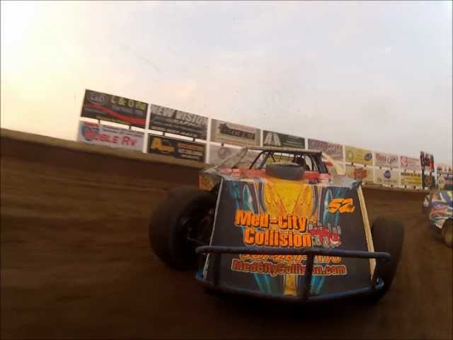 Joey Jensen - #V2 USMTS Modified Heat Race - Olympic Fire Protection In-Car Cam