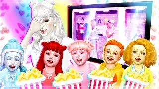 7 Toddler Challenge - The Sims 4 : Movie Night! Ep 7