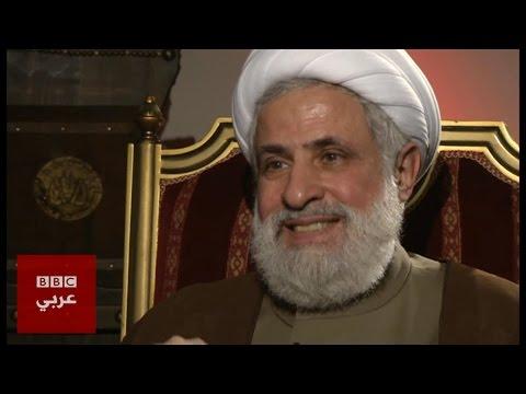 الشيخ نعيم قاسم نائب الامين العام لحزب الله  في المشهد