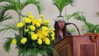HFCA 8th Grade Graduation 5/25/2018 Amber introducing the Principal