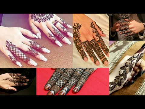 Latest And Top Fingure Mahndi Designs || Trendy Fashion