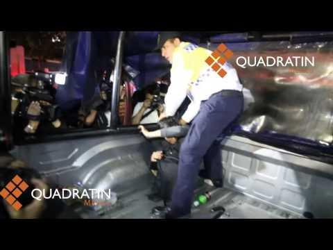 Golpes y detenciones al finalizar marcha por Ayotzinapa