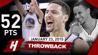 The Game Klay Thompson BECAME a LEGEND 2015.01.23 vs Kings - 52 Pts, EPIC NBA Record 37 in a Qtr!