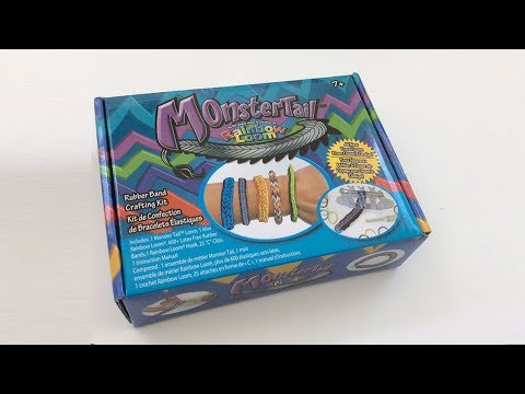 Rainbow Loom Monster Tail unboxing review and tutorial