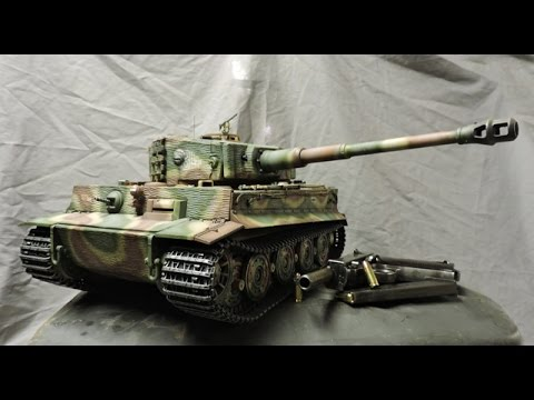 1/16th scale RC Taigen Late production Tiger I tank rebuild Part 1 of 2