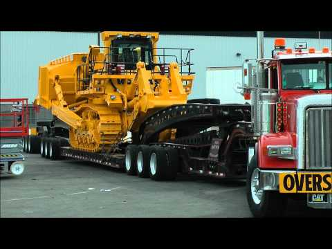 Komatsu 375A bulldozer getting moved
