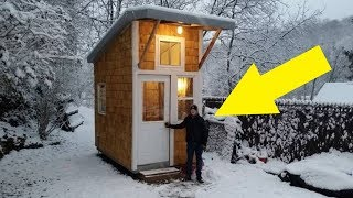 13 year old builds his own mini house in his backyard, look inside and be impressed