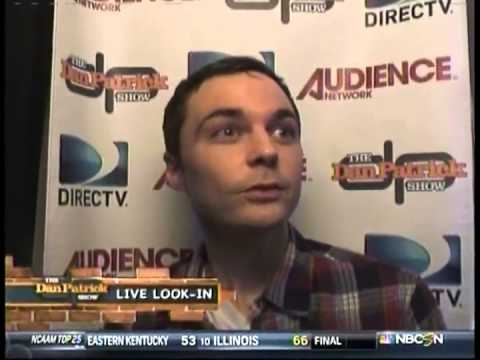 Jim Parsons on The Dan Patrick Show Live Look-in only - 2 of 3 (12.17.12)