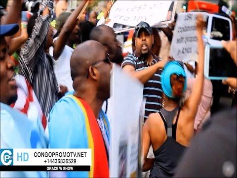La manifestation des combattants des USA contre Joseph KABILA à Washington