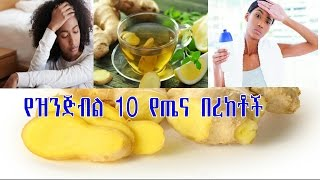 10 Health Benefits of Ginger - Amharic