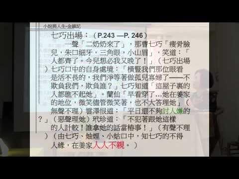 小說與人生~~金鎖記 (二. 認識作品 -上) 董毓葳老師 講於2012/6/5