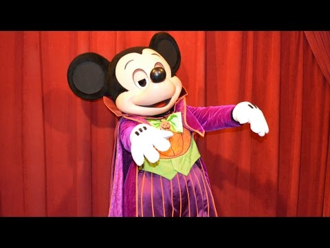 Talking Mickey in Halloween Costume, First Appearance at Mickey's Not-So-Scary Halloween Party