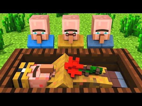 Miner Villager Life : Teacher's Childhood - Alien Being Minecraft Animation