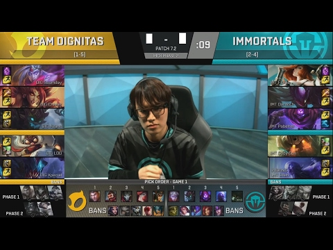 DIG (Ssumday Maokai) VS IMT (Flame Nautilus) Game 2 Highlights - 2017 NA LCS Spring W4D1