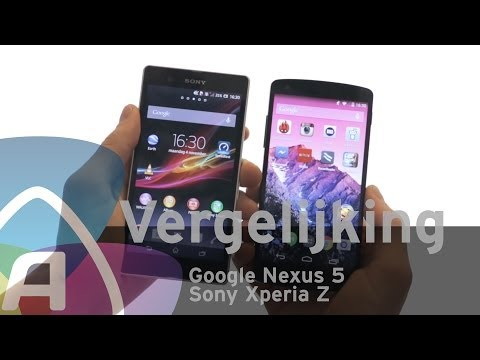 Google Nexus 5 vs Sony Xperia Z review (Dutch)