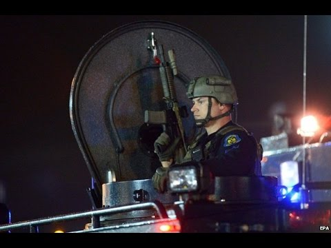CNN: FERGUSON CURFEW NIGHT 2: MARTIAL LAW AND POLICE STATE IMAGES.