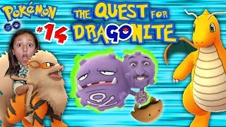 POKEMON GO Quest 4 Dragonite! 10k Eggs & NEW POKEDEX ADDITIONS (Part 14 Gameplay w/ FGTEEV Kids)