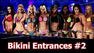 EIGHT sexy bikini Entrances #2   WWE 2K18 bikini barefoot entrances   WWE 2K18 bikini