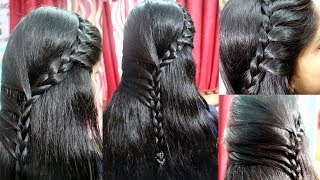 New French Hair Style with Five Side Braids | French choti | New Hair Style Video 2017