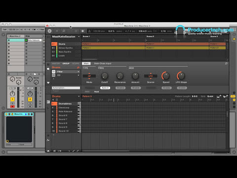 Maschine 2 Tutorial - Using Maschine as a plug-in, including how to automate parameters