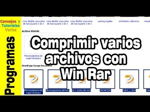 como comprimir varios archivos a la vez con win rar