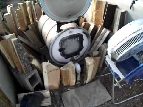 Barrel wood stove update