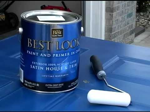 do it yourself repainting steel entry doors youtube. Black Bedroom Furniture Sets. Home Design Ideas
