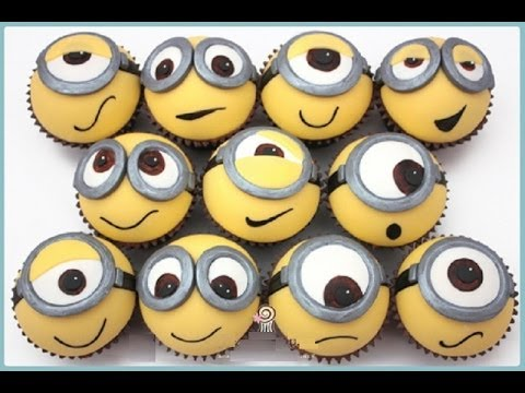 Cupcakes  Minions ,despicable  Me Minion Cupcake Topper video