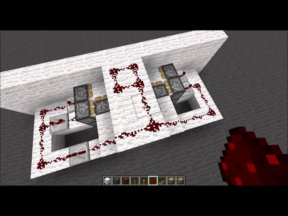 Piston Door 2x2 2x2 Hidden Piston Door