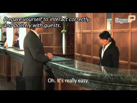 English for Hotel and Tourism 'Checking into a hotel' by LinguaTV