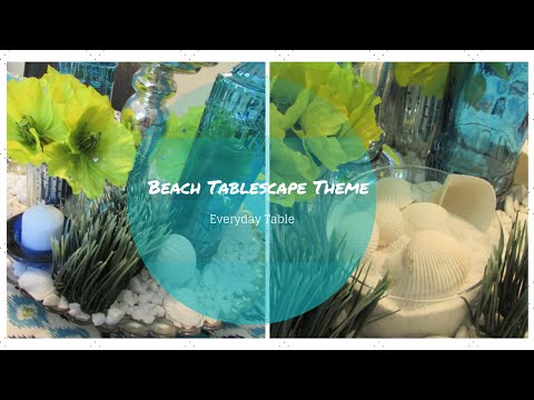 Beach Theme Tablescape ~Dollar Tree & Dollar General Inspired~