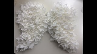 How to make angel wings on tight budget wedding decor