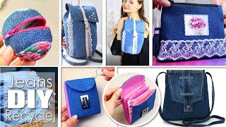 5 FANCY DIY JEANS RECYCLE IDEAS // Cute Woman Bag From Old Jeans You Can Easy Do In 20 Min At Home