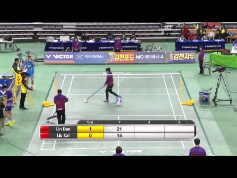 [hd] Sf - Ms - Lin Dan Vs Liu Kai - 2014 Badminton Asia Championships video