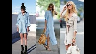 How to wear shirt dresses for women