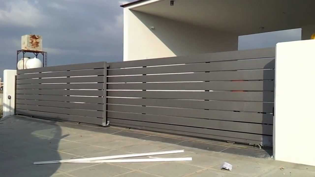 Telescopic Sliding Gate Motor Youtube