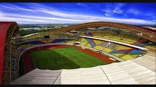 Asian game 2018.stadion wibawa mukti rumput dan single seat rusak