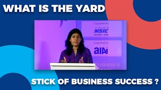 What is the yard stick of Business