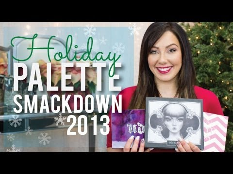 MASSIVE Holiday Makeup Palettes Smackdown   2013