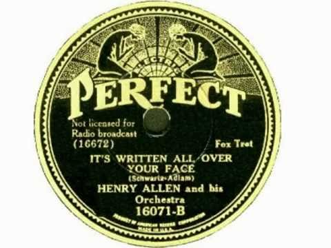 Henry Red Allen 1935 + PeeWee Erwin + Buster Bailey - It´s Written All Over Your Face