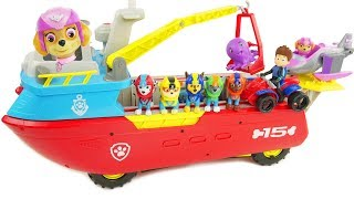 Paw Patrol Sea Patroller Boat Toys Sea Patrol with Ryder ATV Skye Saves the Day Vehicle Chase