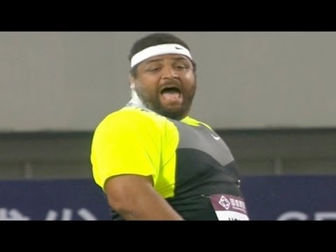 Reese Hoffa wins shot put at Shanghai Diamond League 2012