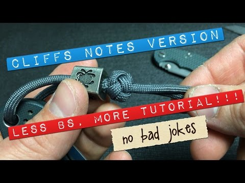 How to lanyard knot. Cliffs Notes Cut!!! Less BS.. MORE Tutorial BRO!!! #WheresTheBeef