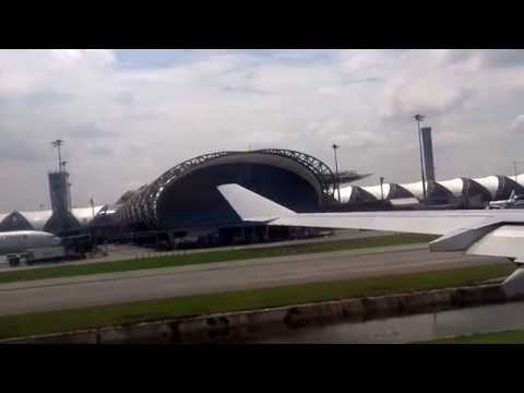 Bangkok (BKK) to Manila (MNL) – Take-off at Suvarnabhumi Airport