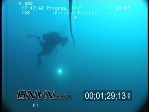 10/21/2003 ROV underwater footage from the bottom of Amberjack Hole Gulf of Mexico