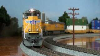 HOscale Athearn Genesis SD70ACes and Intermountain GEVOs in my home Ver1.