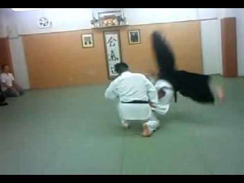 合気道 塾 正面打ち 呼吸投げ 01 aikido juku shomen uchi kokyu nage 01