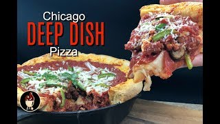 Chicago Deep Dish Pizza | Awesome Deep Dish Pizza Recipe!