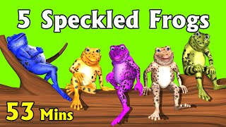 Five Little Speckled Frogs Plus More Kids Songs 3D English Nursery Rhymes For Children VideoMp4Mp3.Com
